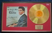 Elvis Presley - 24 Carat Gold Disc and Cover - His Hand in Mine